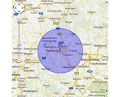 Einsatzgebiet Karte TÜRÖFFNUNG
