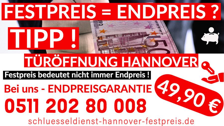 Schlüsseldienst Hannover Festpreis, Endpreis